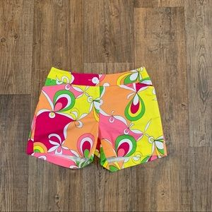 Skirtin' Around Printed Colorful Shorts Size 4